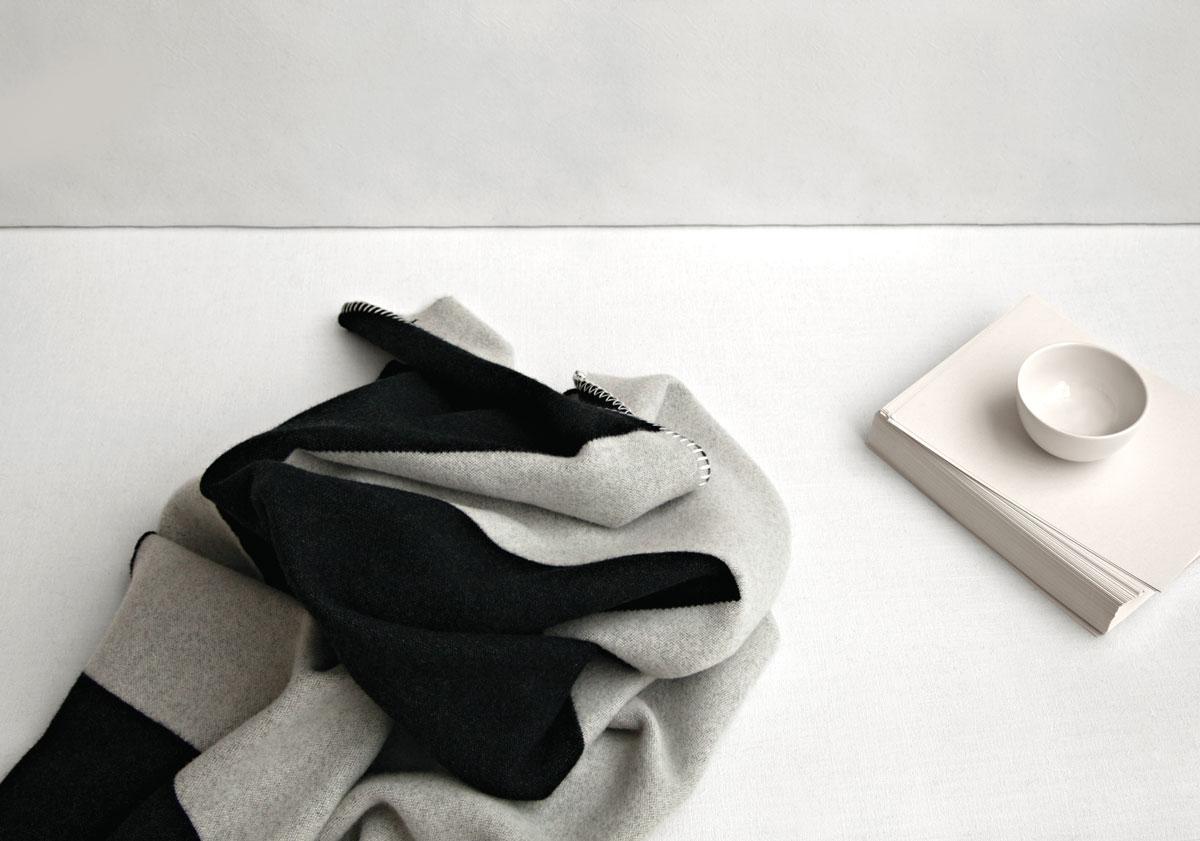 fabric of felt was designed into Crux Blanket