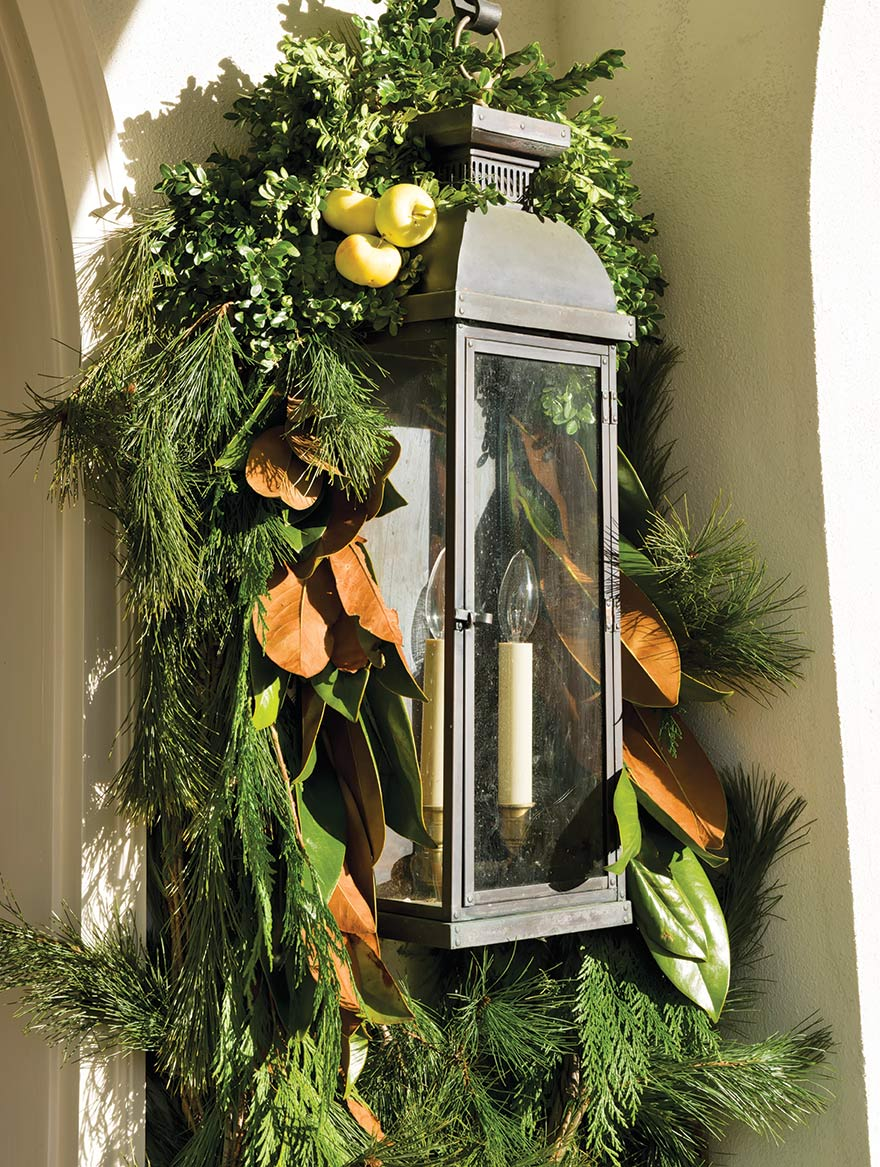 Janie recommends stringing natural garland for both indoor and outdoor decoration