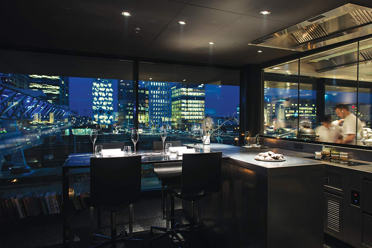 The interior of Maaemo restaurant