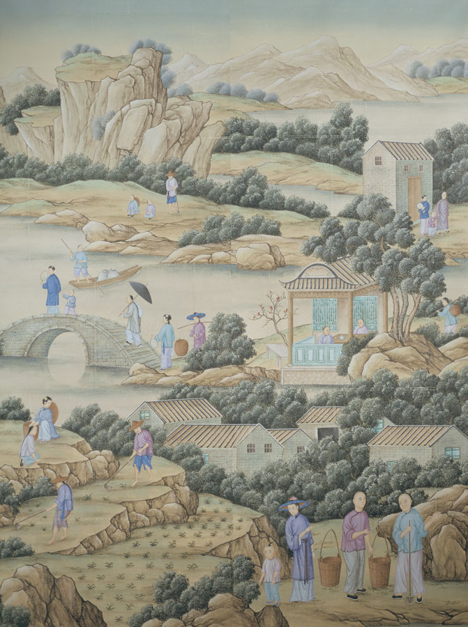 Chinese wallpaper from Gracie with traditional Chinese motif