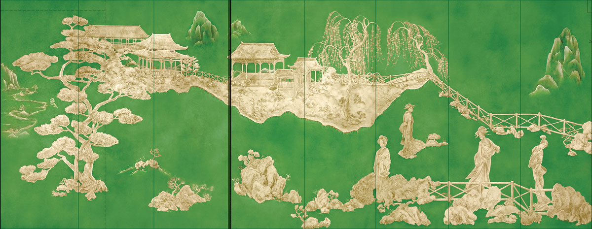 beautiful hand-painted chinoiserie pannels by gorman studios