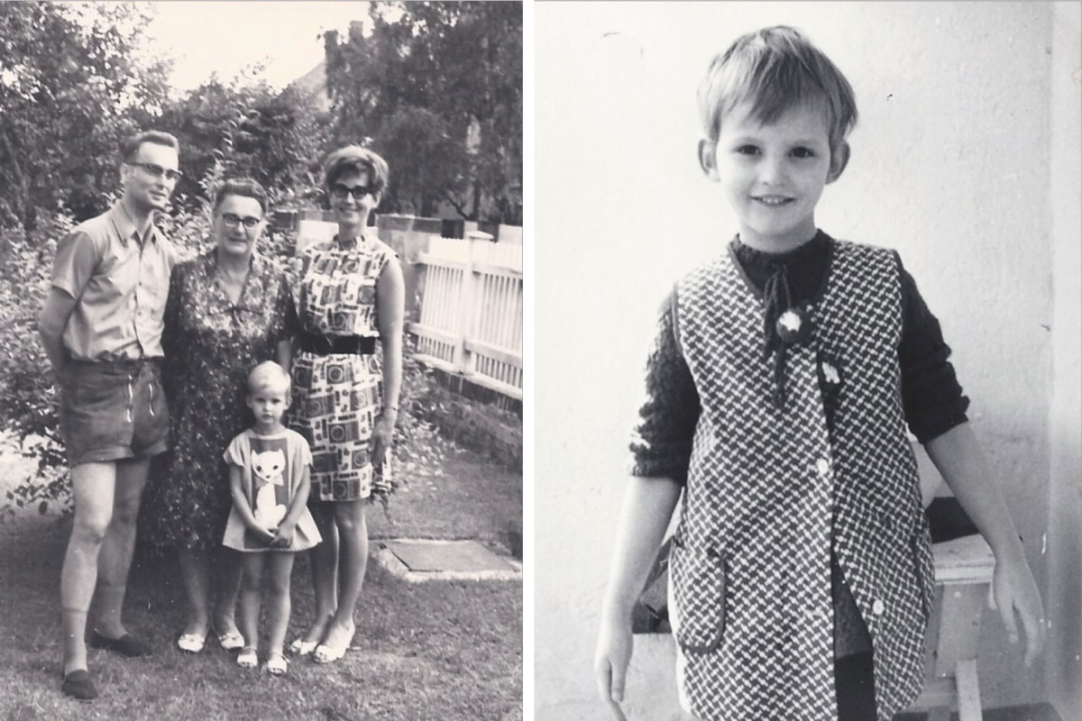 Creative Director of Wolford, Grit Seymour's childhood photo