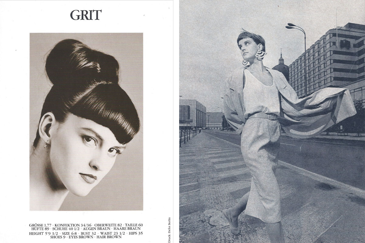 Creative Director of Wolford, Grit Seymour's modelling days