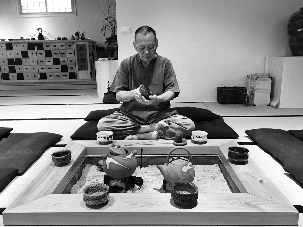 Mr. Tian Chengtai at his tea room