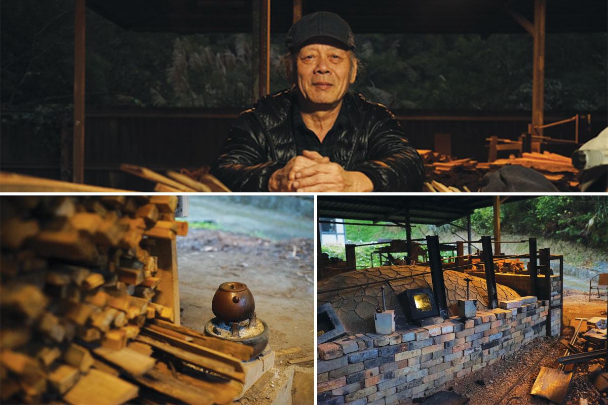 Mr. Tian Chengtai at his kiln