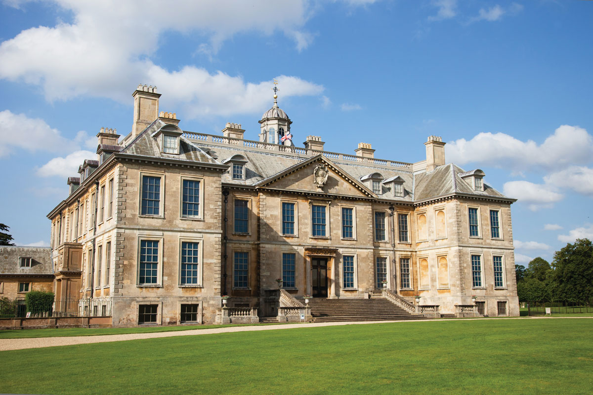 Belton House, built by Sir John Brownlow, 3rd Baronet, in the mid-17th century.