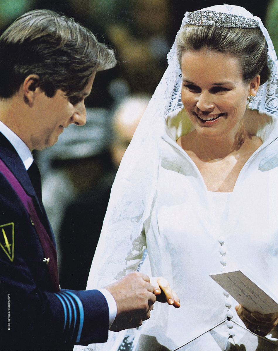 Vermeulen's wedding dress for Queen Mathilde is often considered by fashion bloggers and netizens to be one of the most memorable pieces of royal haute couture to date