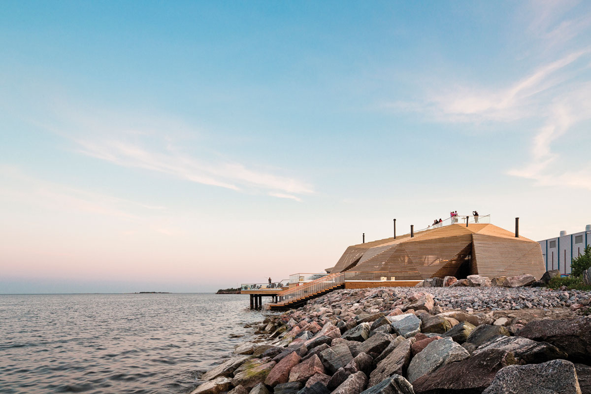 Löyly, Finland's first public sauna, has become one of Helsinki's hottest landmarks.