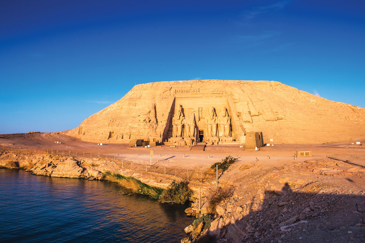 The temples at Abu Simbel were discovered in 1813 by Swiss researcher Johann Ludwig Burkhardt.