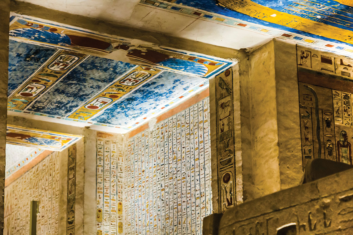 Buried for millennia, the paints used in the tombs in the Valley of the Kings are as bright as the day they were painted.