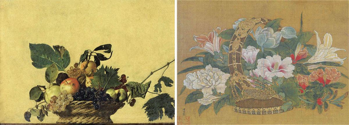 zhangliang_basket-of-fruit_Michelangelo-Merisi_a-basket-of-flowers_li-song