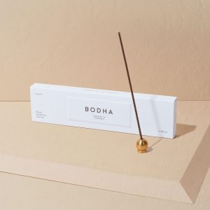 BODHA Incense + Polished Brass Holder Set