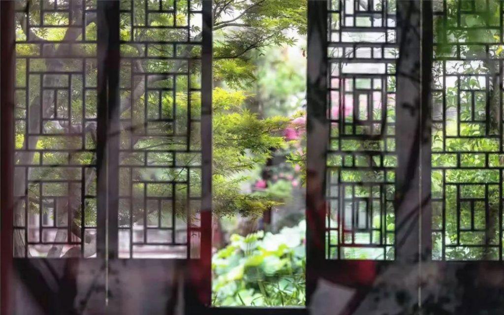Window in Asian Architecture - Garden in Suzhou