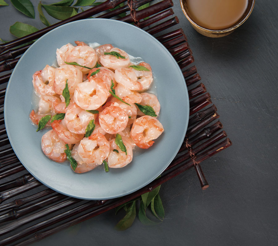 Prawn with Longjing Tea