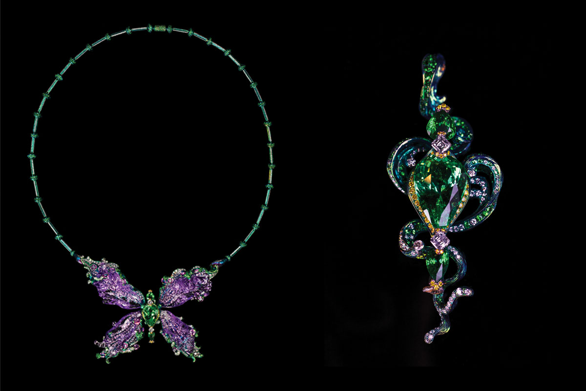 Transformable Brooch, Necklace The Waves by Wallace Chan