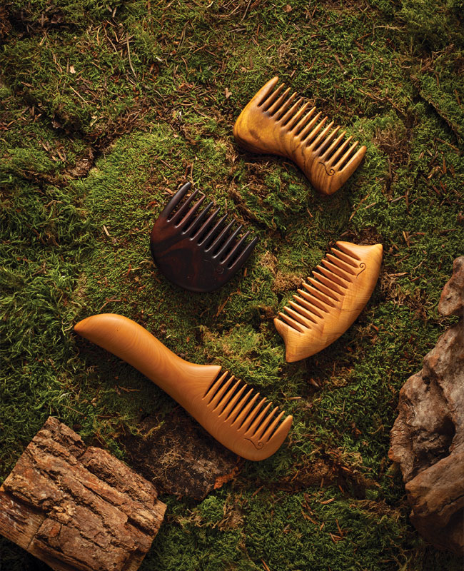 wood combs in the M Comb collection