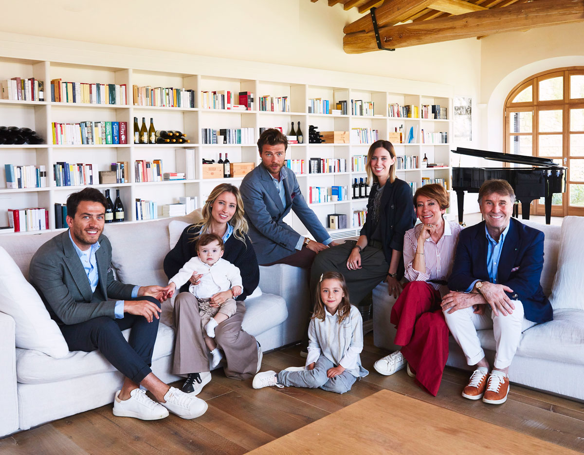 Brunello Cucinelli and family in Solomeo