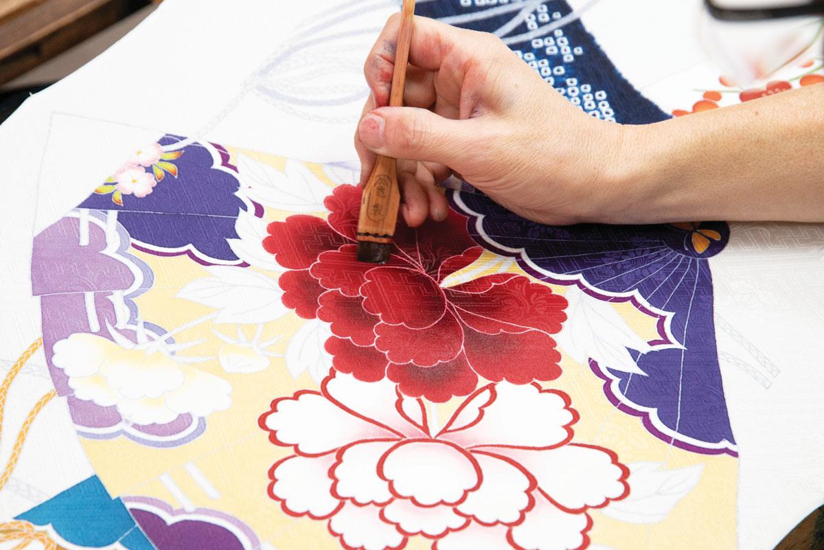 yuzen dyeing technique