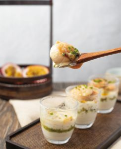Recipe for Pomelo Scallop Cups