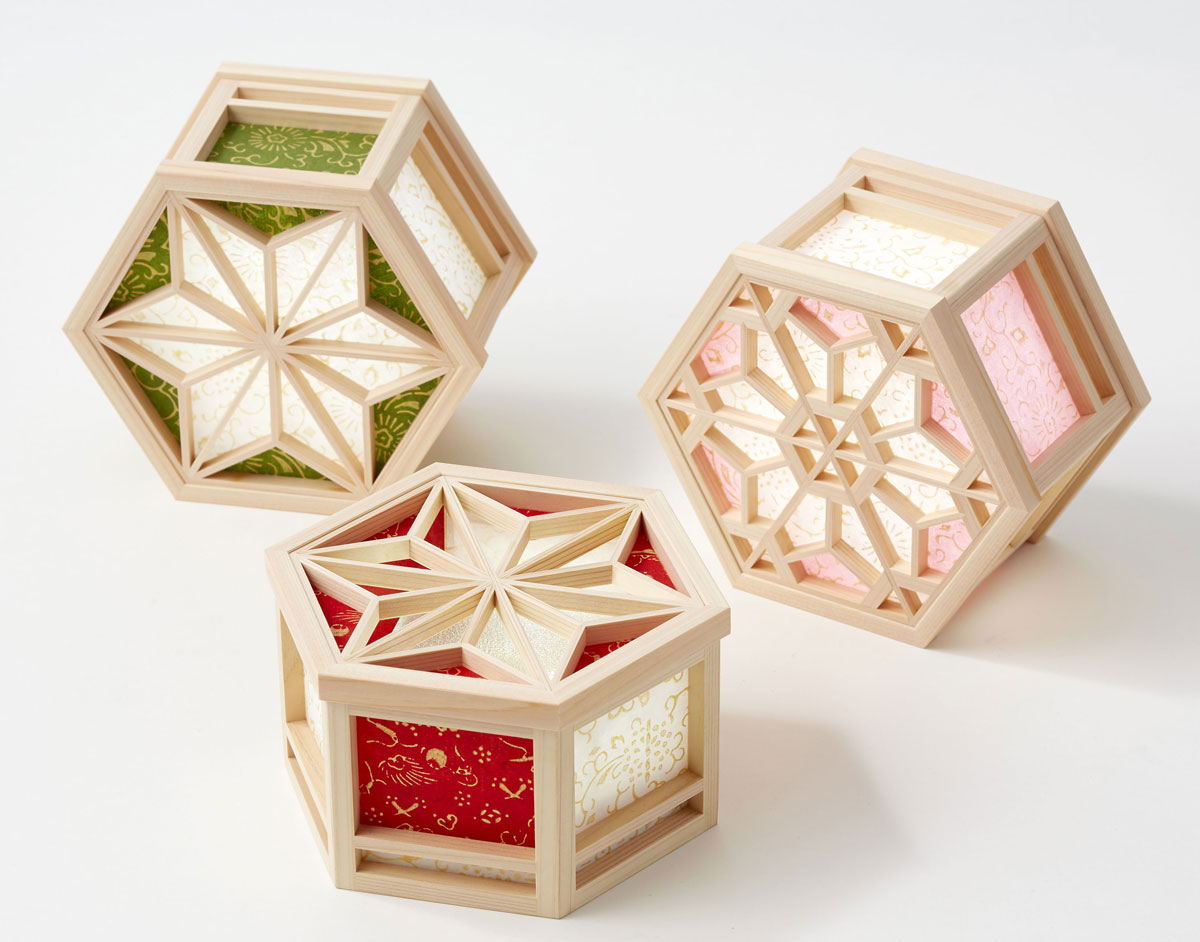 Japanese wooden light boxes