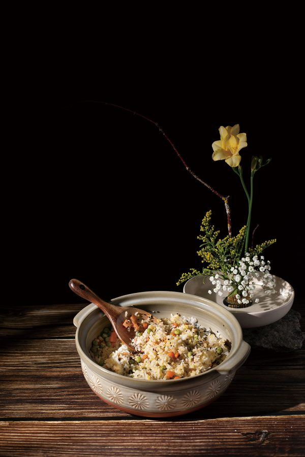 Gold and Jade Basmati Rice with Vegetables and Nuts