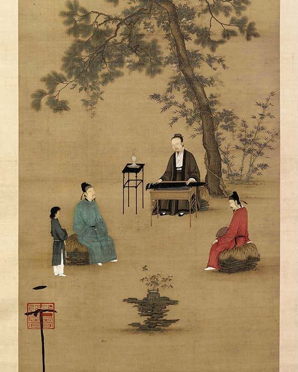 painting of ancient japanese incense