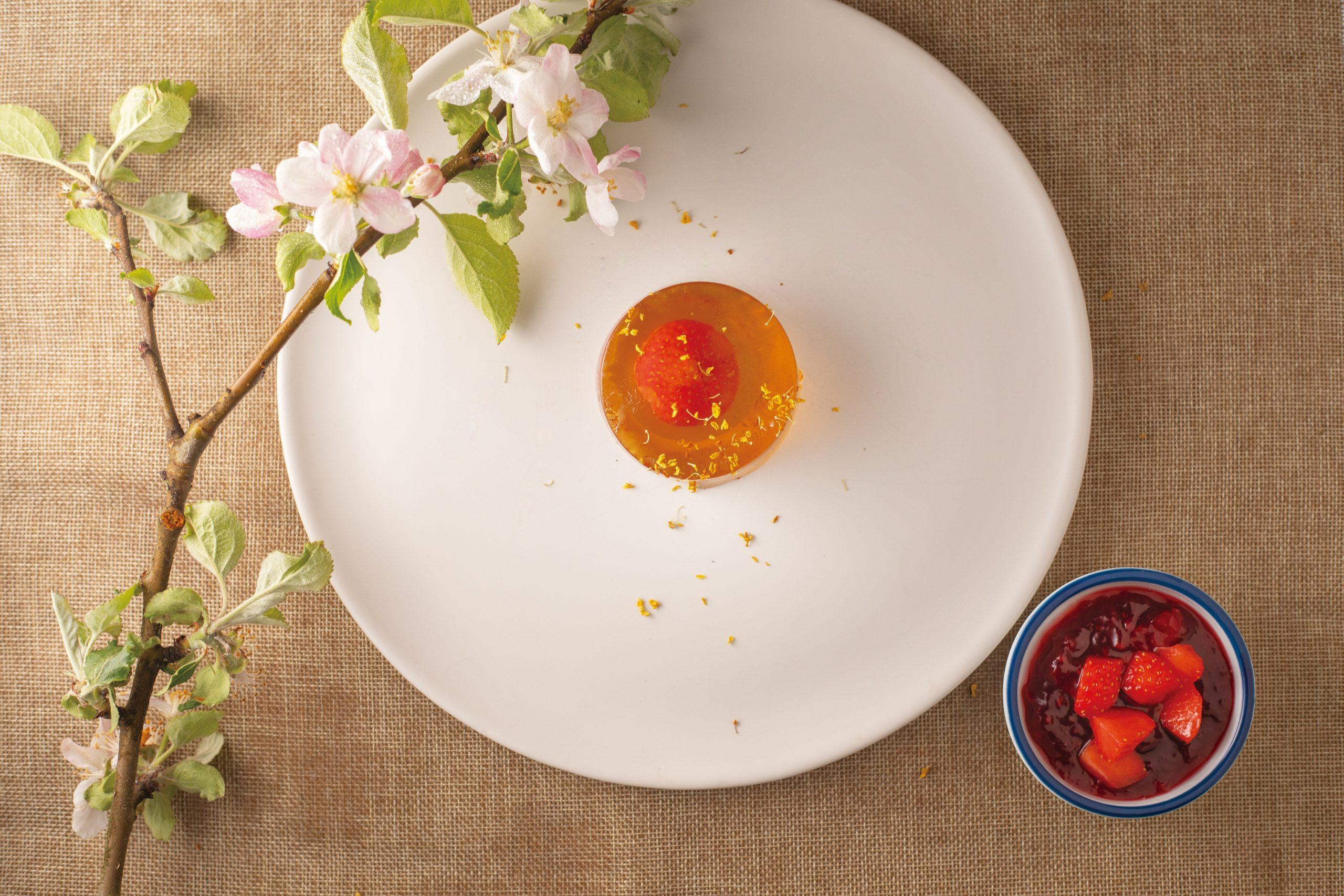 Recipes inspired by 12th solar term - Oolong Jade with Crimson Dot