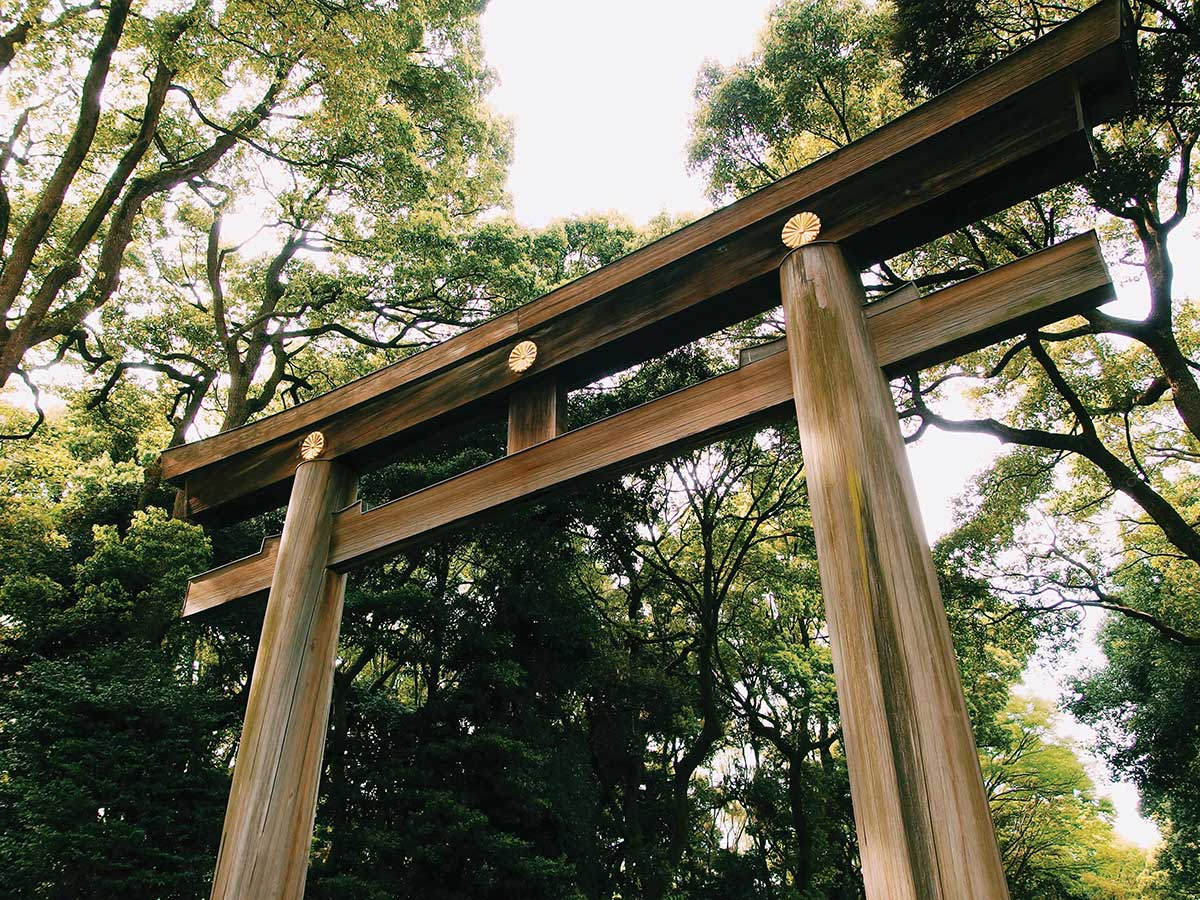 traditional Japanese torii gate